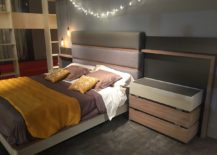 Wooden warmth adds a touch of class to the bedroom setup