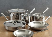 10-piece All-Clad stainless steel cookware set