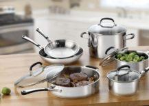 10-piece Calphalon cookware set