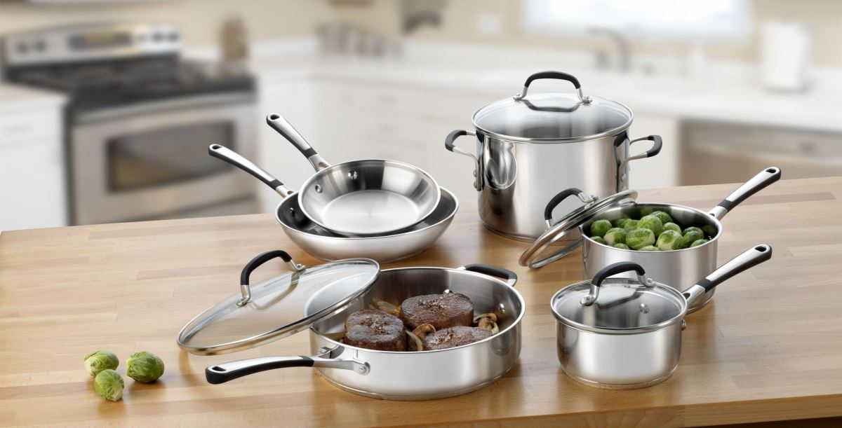 view in gallery 10piece calphalon cookware set