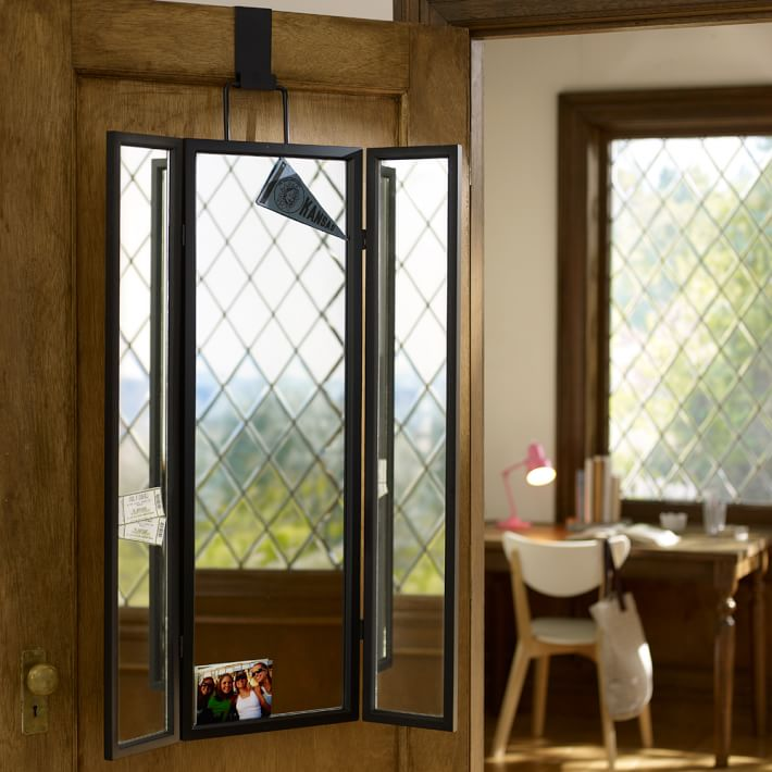 3-way over-the-door mirror from PB Teen