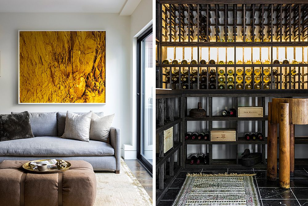 A Look inside the wine cellar at the Cumberland Street Residence