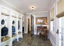A desk and chair for the mudroom can give the kids a cool study space