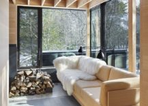 A perfect way to enjoy some sunshine at the cabin retreat
