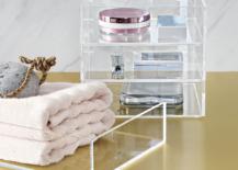 Acrylic bath accessories from CB2