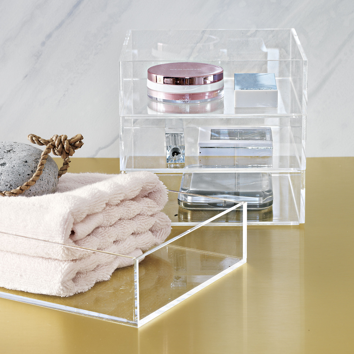 Acrylic bath accessories from CB2