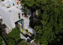Aerial view of Casa Desnuda in Merida, Mexico