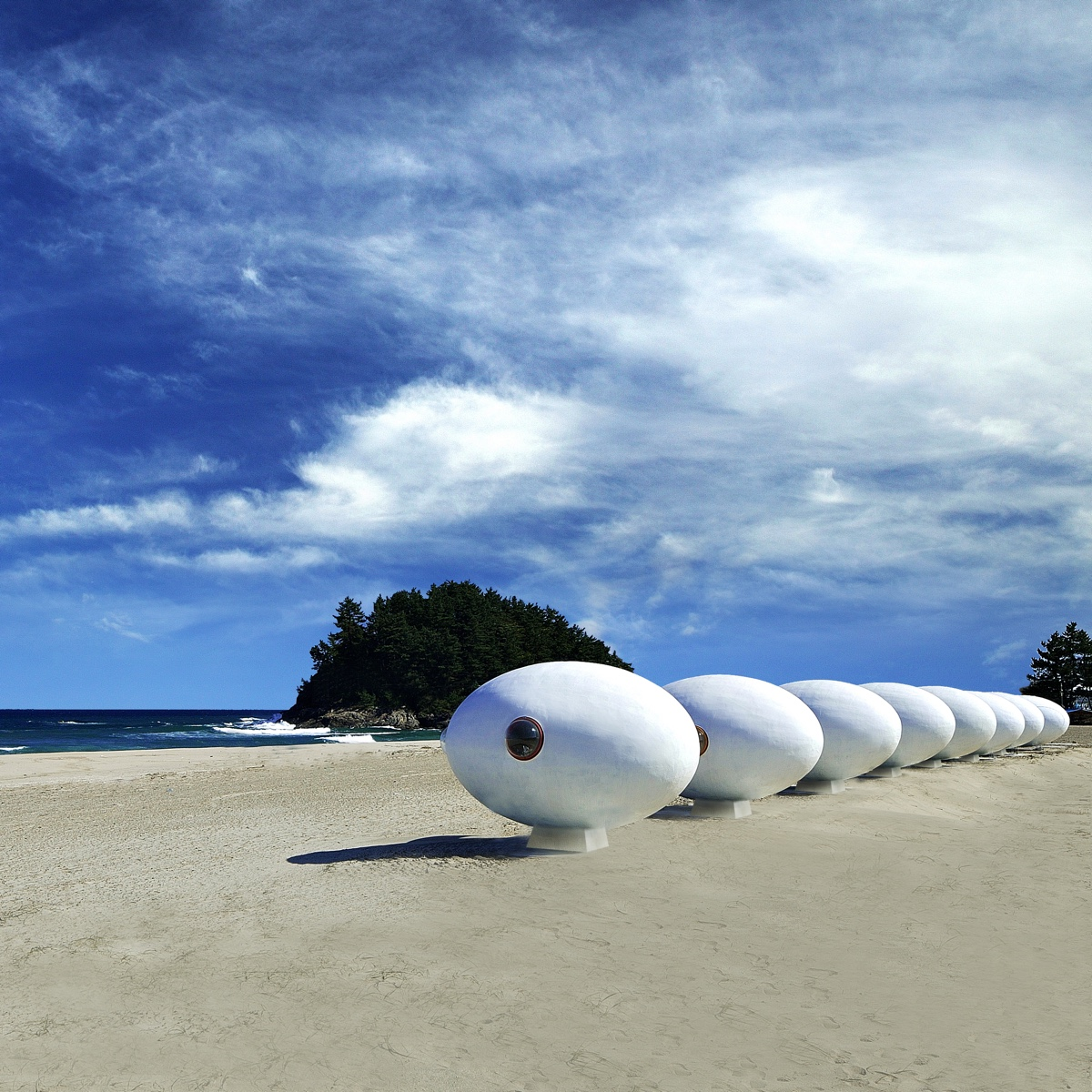 The quirky egg-shaped Albang, created by Yoon Space Design.