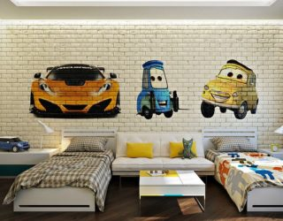 25 Vivacious Kids' Rooms with Brick Walls Full of Personality