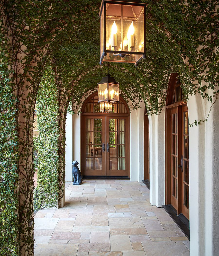 An entrance to behold - Mediterranean style at its brilliant best! [Design: Thompson Custom Homes / Photography: Steve Chenn]