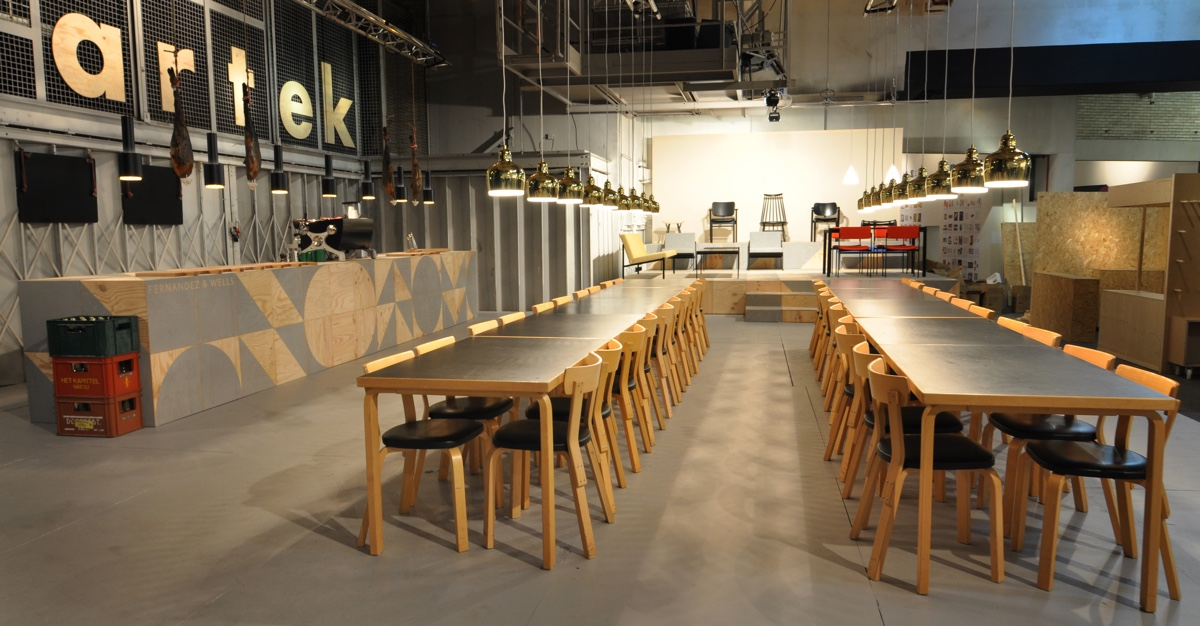 Artek pop-up shop and cafe. Image courtesy of Philippe Malouin.