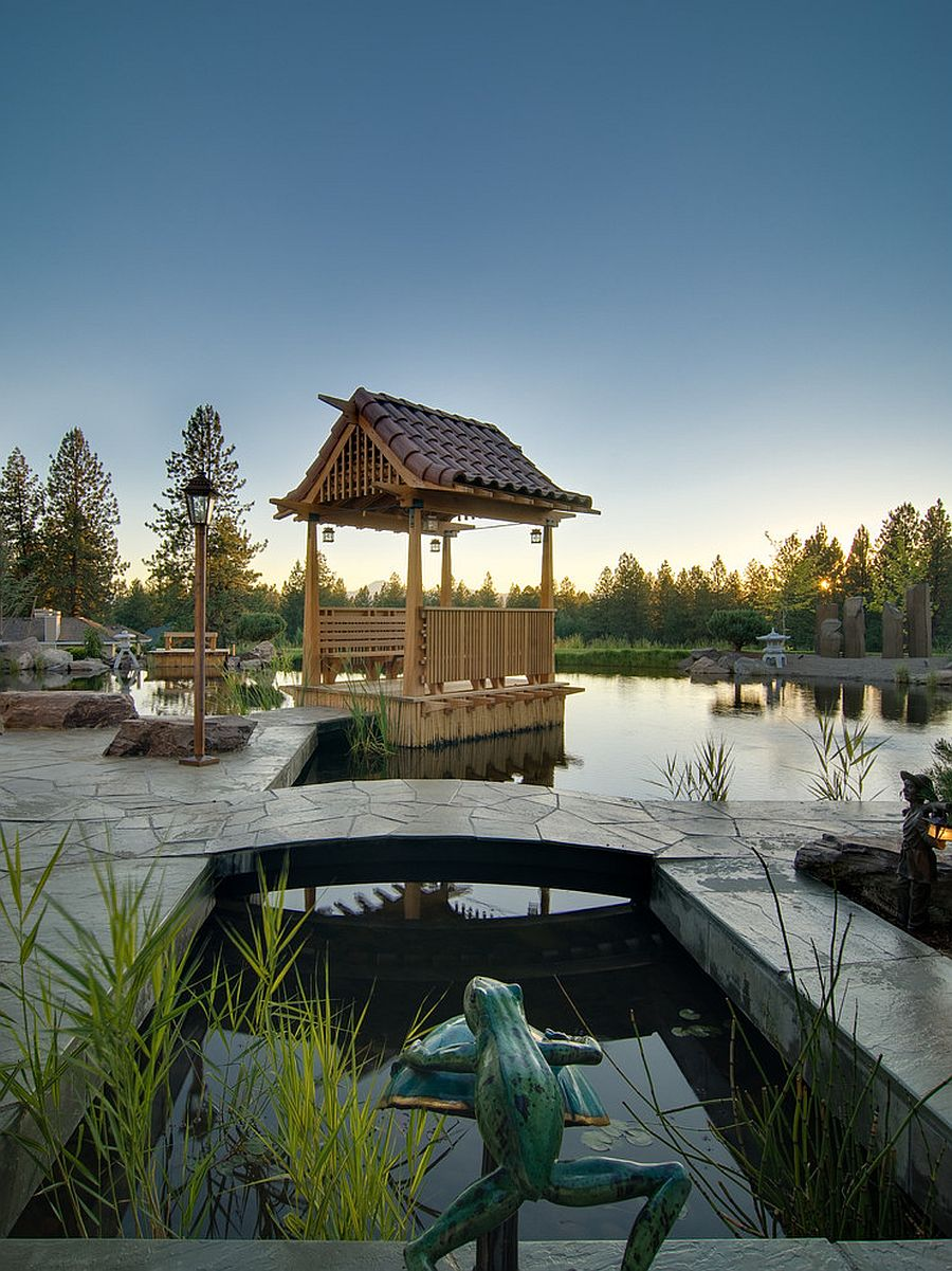 Asian style landscape design seems transcendental [Design: CS Construction]