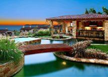 Backyard Bridge Designs diy garden bridge with low railing 25 Fascinating Pool Bridge Ideas That Leave You Enthralled