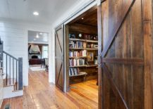 Barn doors make it easier to find space for the home office!