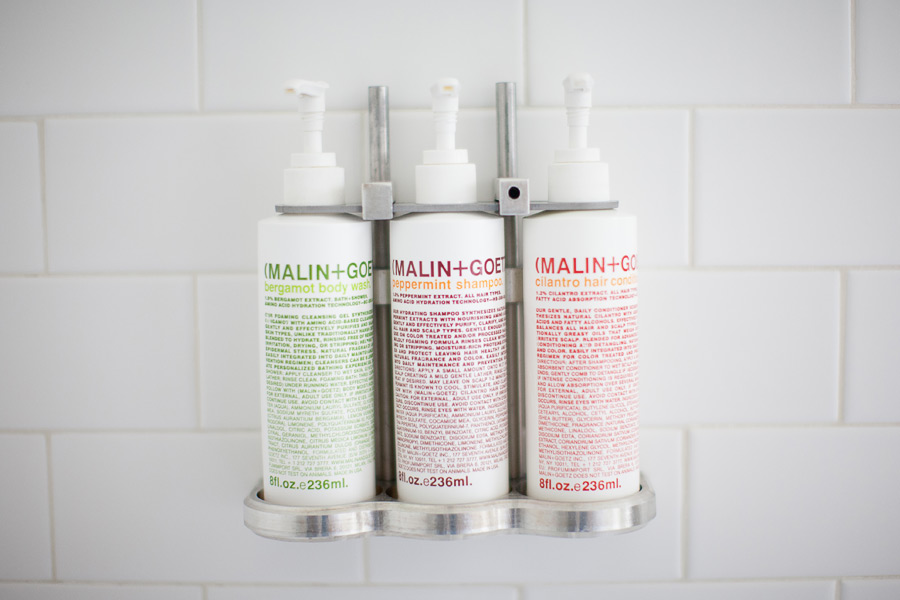 Bath products for the guest room