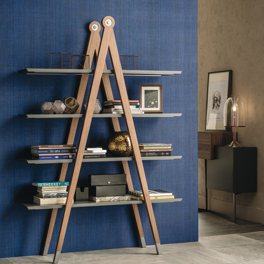 Beautiful and functional ladder styled bookcase