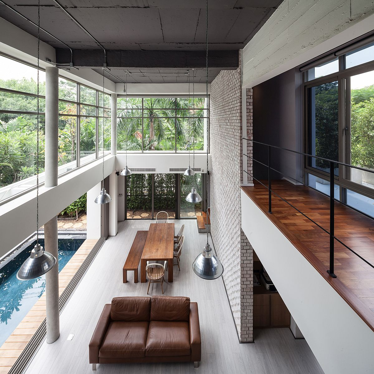 Industrial Home Design Spectacular Modern Industrial Home: Industrial And Modern Side By Side: Two Houses In Bangkok