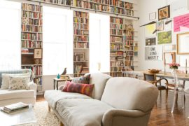 Filled with the Romance of Art and Books: Brooklyn Heights Loft