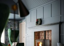 Cast iron pellet stove to replace the traditional fireplace