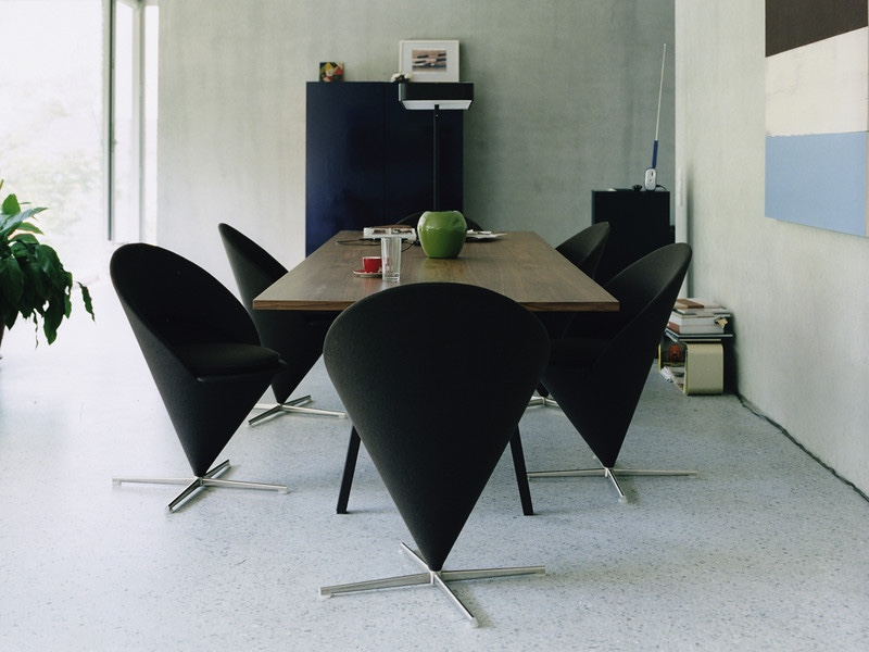 Cone Chair black fabric