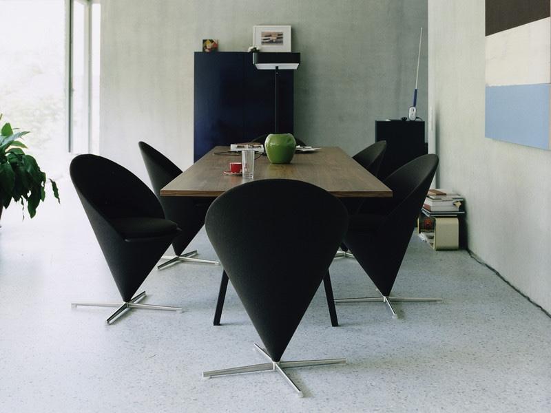 Cone Chair black fabric