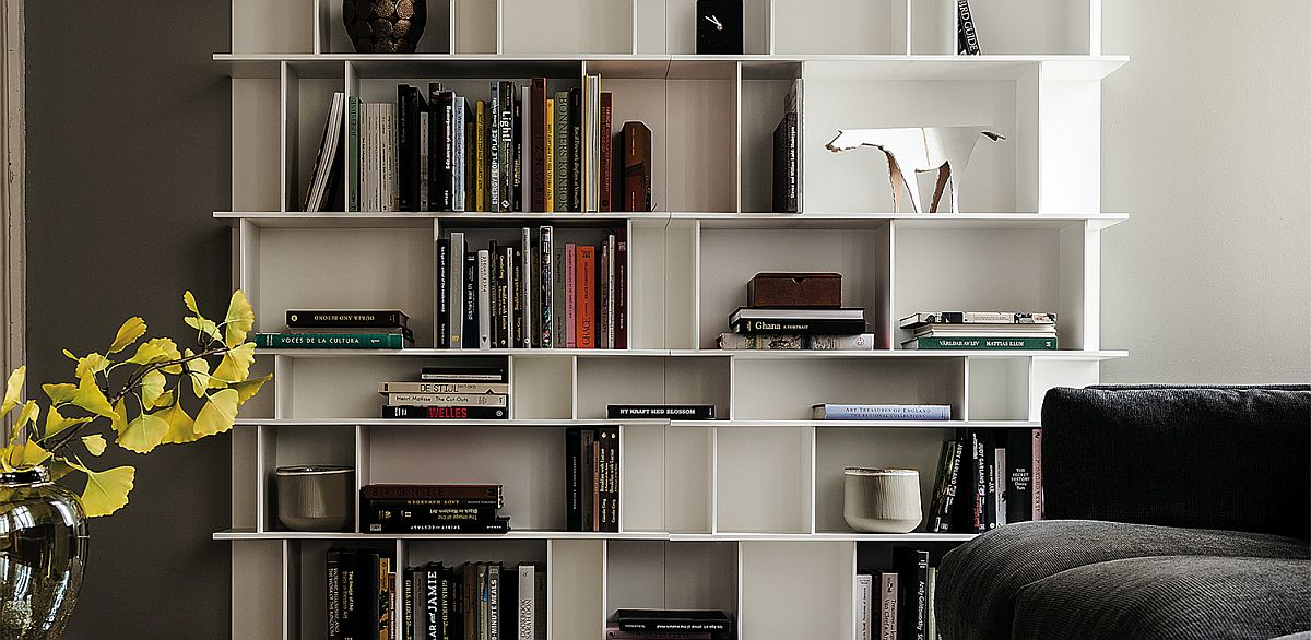 Contemporary Wally Bookcase with modular adaptability