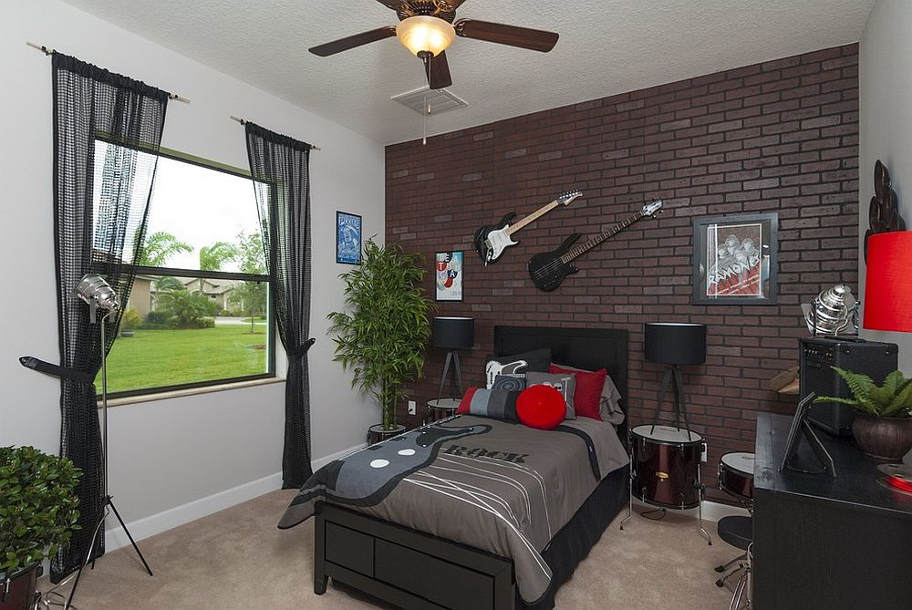 25 vivacious kids rooms with brick walls full of personality. Black Bedroom Furniture Sets. Home Design Ideas