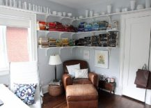 Cozy reading corner for the small, eclectic home office