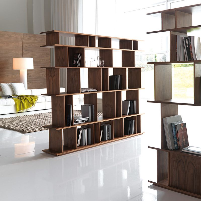 Create a room within a room with modular bookshelves