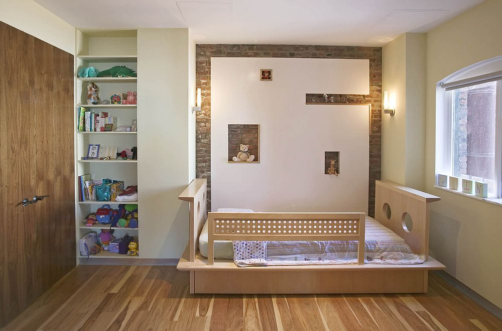 25 vivacious kids rooms with brick walls full of personality - Toddler bedroom ideas for small rooms ...