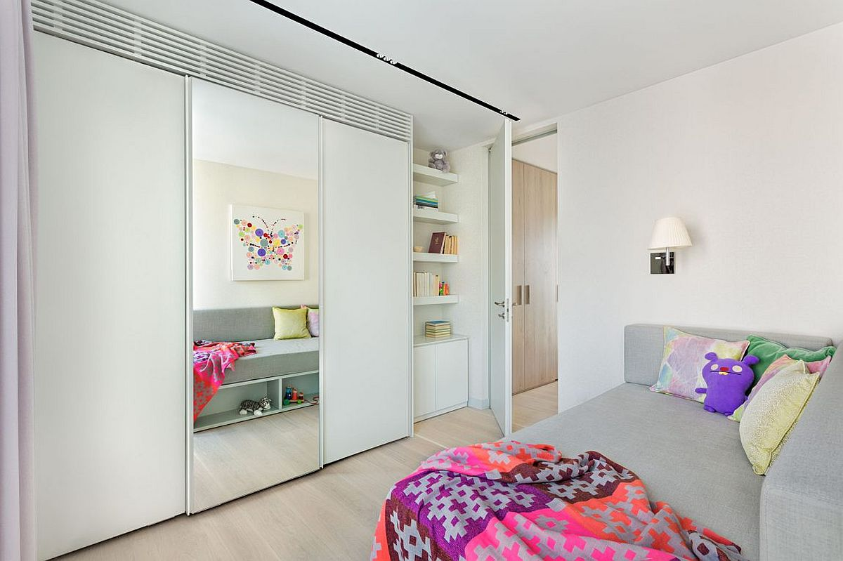 Custom designed units add to the storage capacity of the private spaces inside the penthouse
