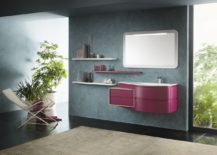 Custom finishes of Avantgarde allow you to add pops of vivacious color to your contemporary bathroom