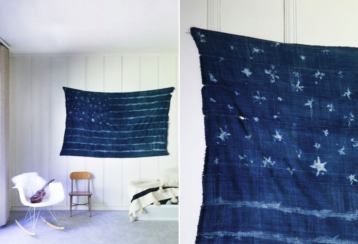 DIY mudcloth flag from Say Yes