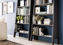 Deceptively-spacious-and-sleek-bookshelves-with-ladder-design-217x155