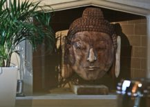 Decorating inspiration from the East with the beautiful Buddha's head