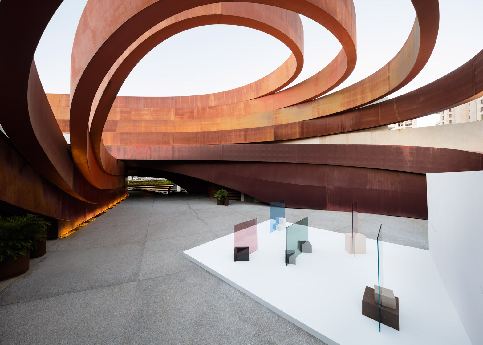 """The Space In Between"" at Design Museum Holon. Photo by Takumi Ota via Dezeen."