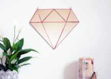 Diamond mirror from Etsy shop Noja Glass Design 217x155 Design Trend: Small Geo Mirrors