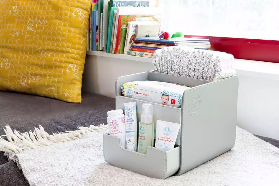 Diaper caddy from The Honest Company