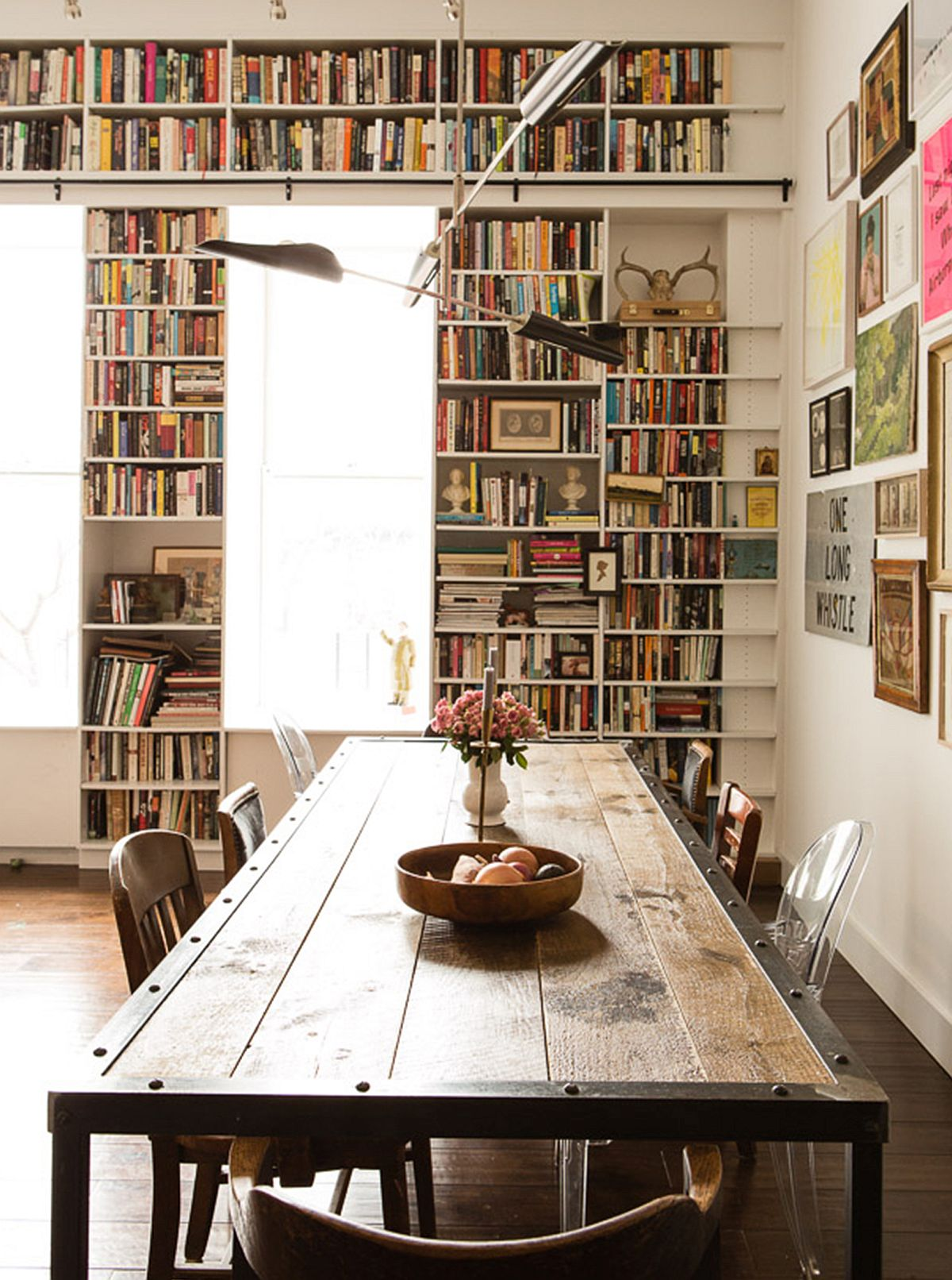 Industrial Study Room: Filled With The Romance Of Art And Books: Brooklyn Heights