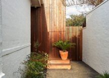 Distinct entrance of the Malvern House with a modern makeover