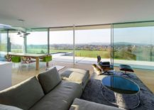 Eames lounger in the living room with stunning view