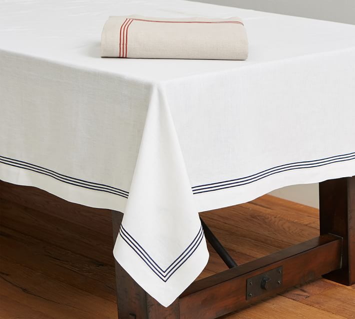 Embroidered tablecloth from Pottery Barn
