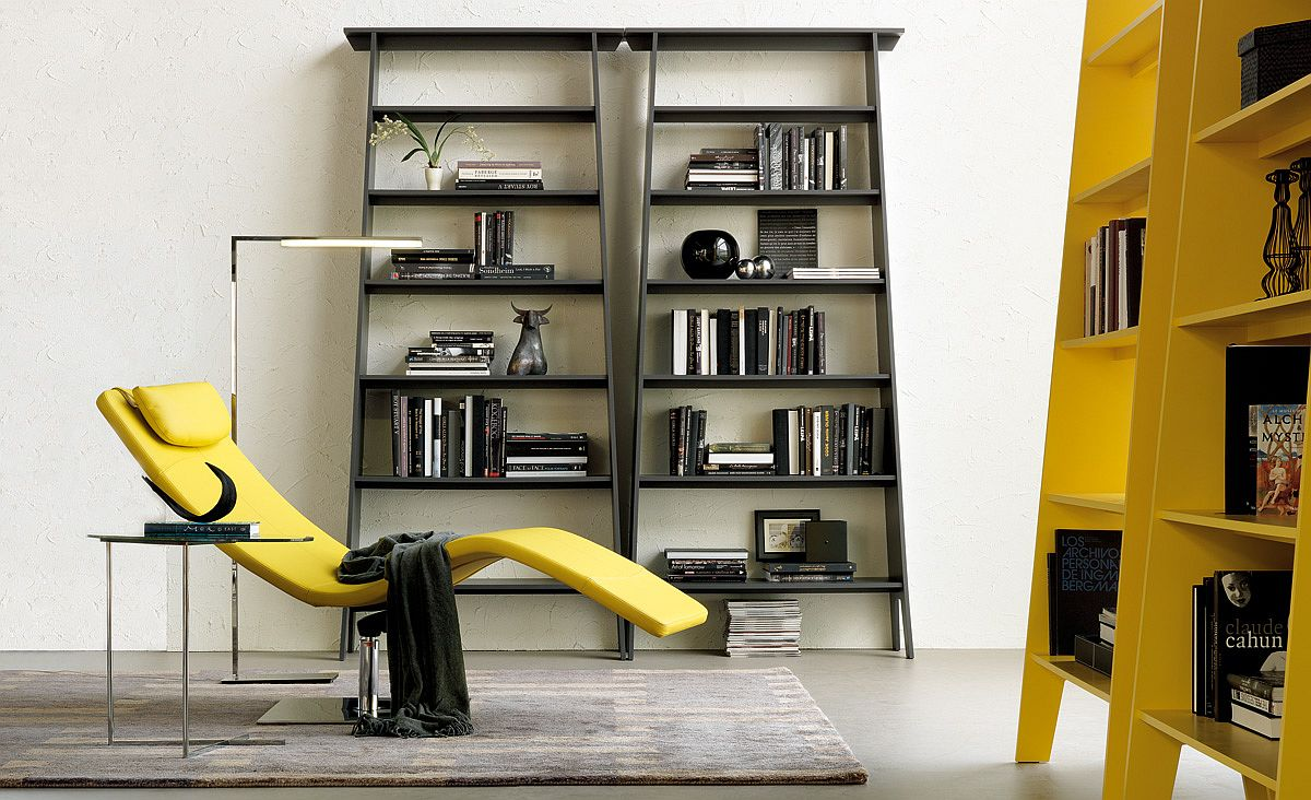 Estoril bookshelves add color and personality to the living space