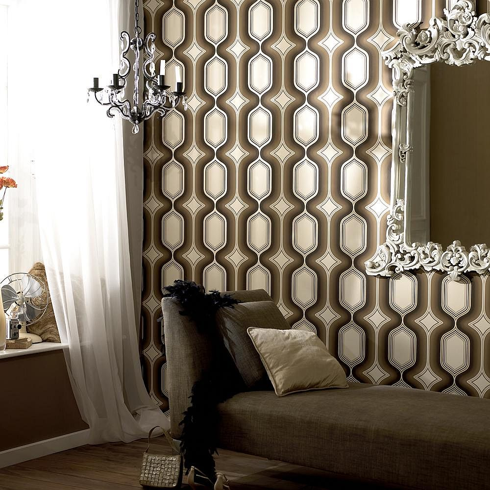 Exquisite Drama Boheme Wallpaper in Chocolate [From: Design Public]