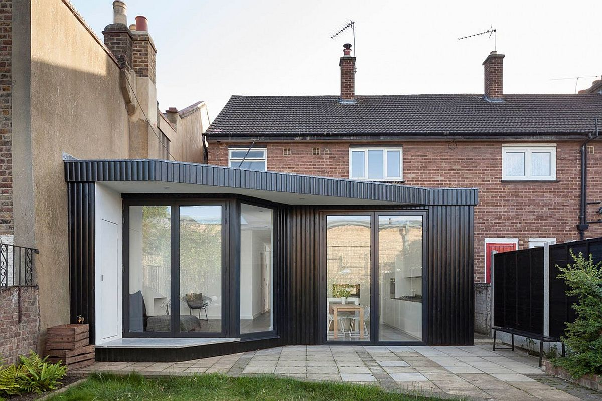 Extension and renovation of two-story, semi-detached house in London