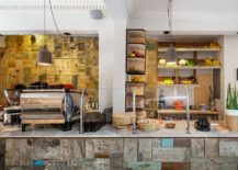Fabulous coffe zone and kitchen station full of color and creativity