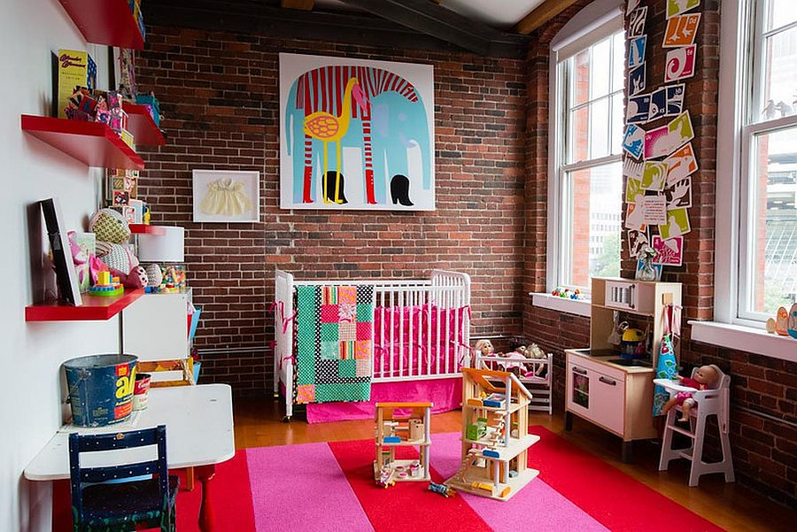 Fabulous kids' bedroom full of color can easily grow along with your kid! [Design: S+H Construction]