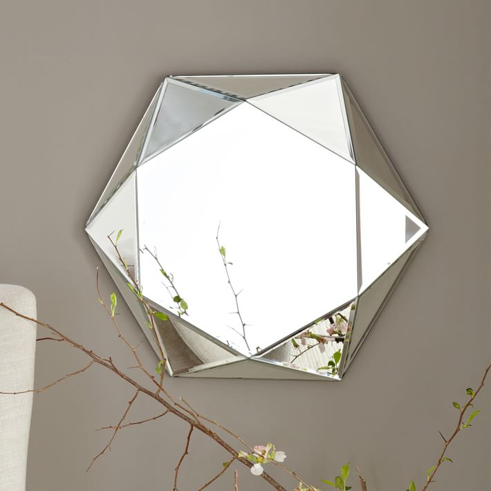 View In Gallery Faceted Mirror From West Elm