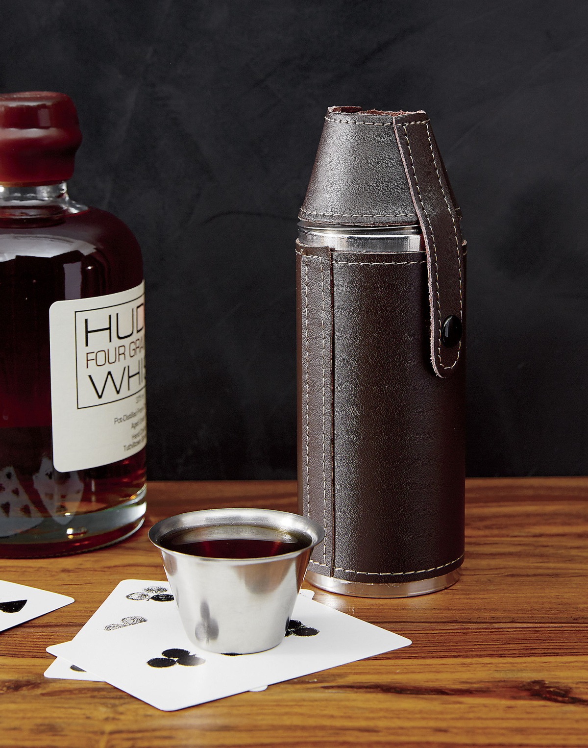 Flask and shot glass set from CB2