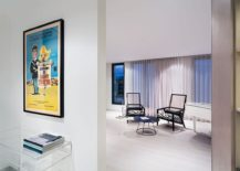 Framed-poster-brings-color-and-excitement-to-the-neutral-penthouse-interior-217x155